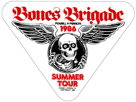 Powell Peralta - Legendary Bones Brigade Tour sitcker. 1986.